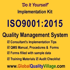 ISO9001:2015 Implementation Kit (Mfg Cos) - CD
